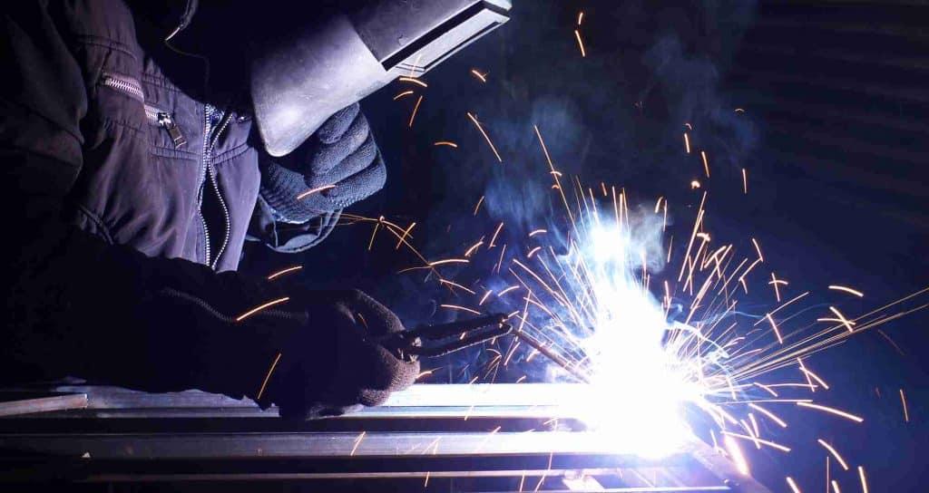 metal fabrication welding man