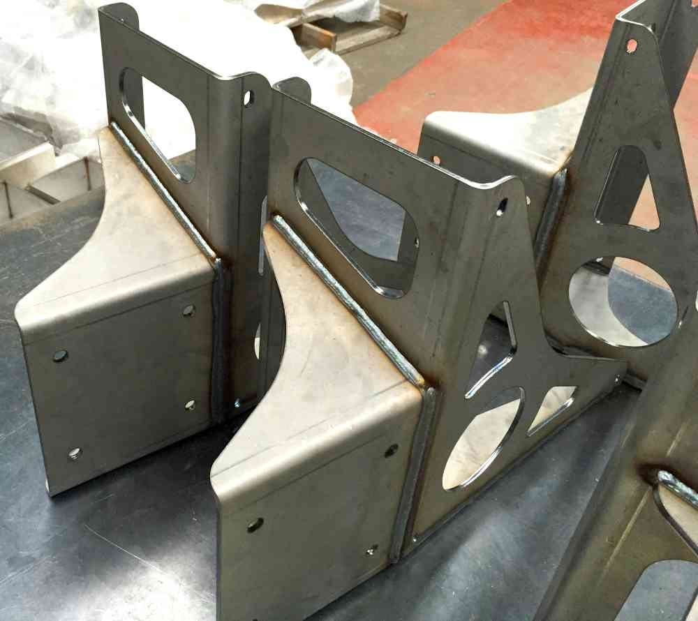 pieces of metal welded components