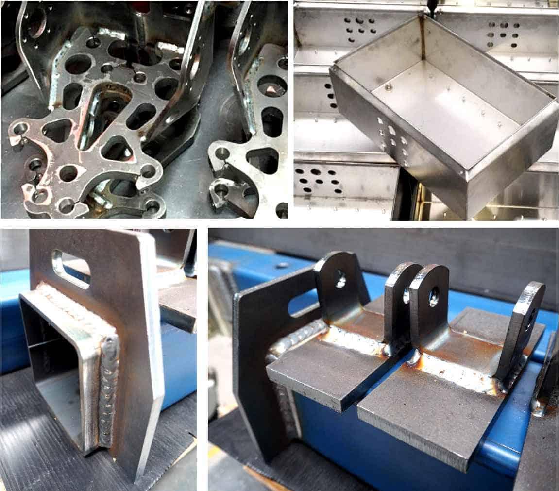 metal welding pieces of fabrication