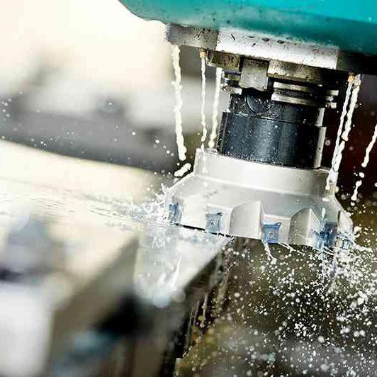 spinning metal machinery close up