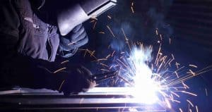 metal fabrication welding man