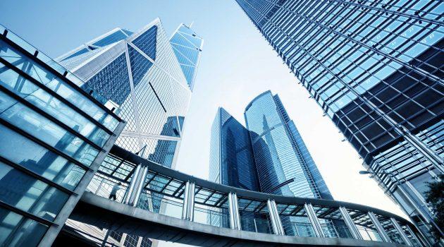 city buildings industry sectors