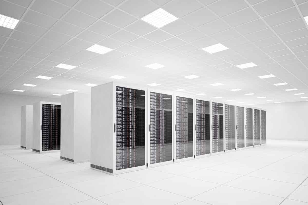 metal white server rack fabrication