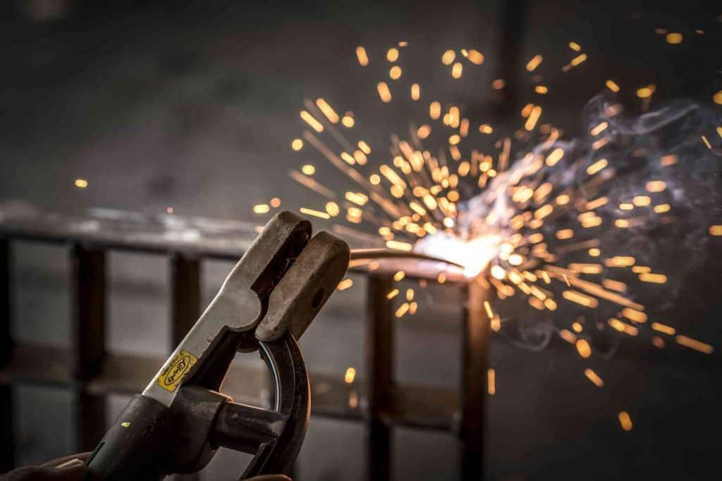 metal type sparks