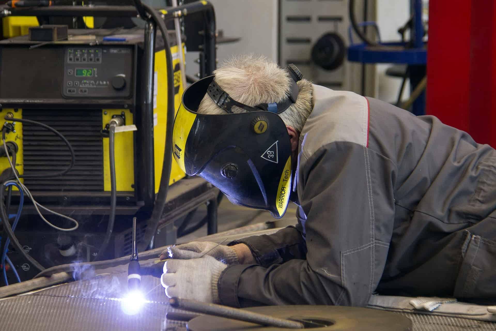 welder with safety gear